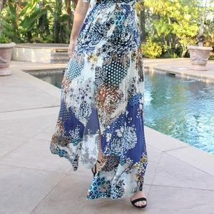 44abb149a9 Hale Bob Dresses - Floral Silk Velvet Flutter Maxi Dress